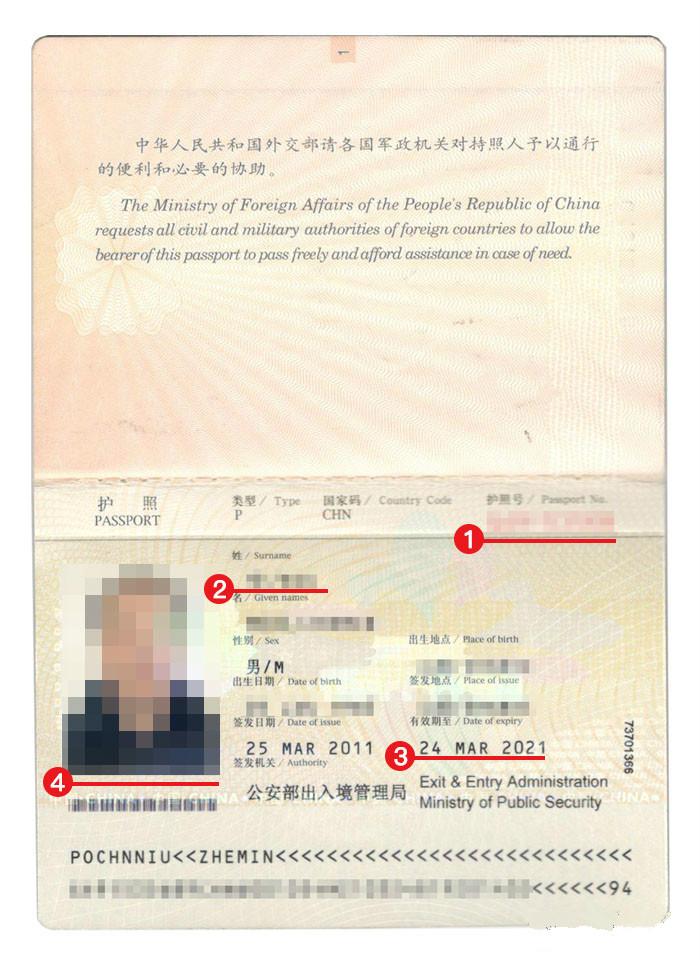 荷兰签证护照模板